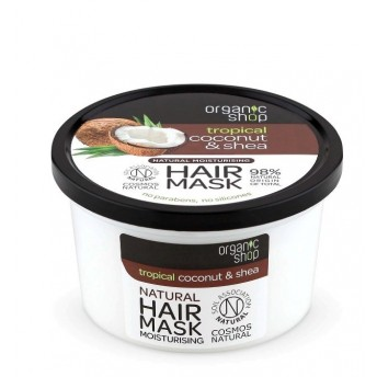 Masca de par bio hidratanta Coconut & Shea, 250 ml - Organic Shop