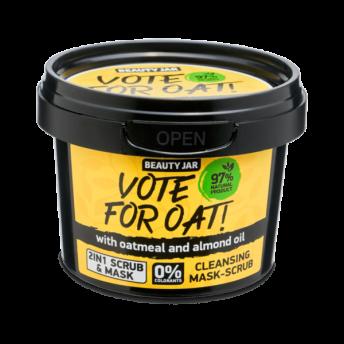 Masca faciala exfolianta cu ovaz si ulei de migdale, Vote for oat, Beauty Jar, 100 g