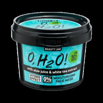 Masca faciala hidratanta cu aloe vera si extract de ceai verde, O,H2O, Beauty Jar, 100 g