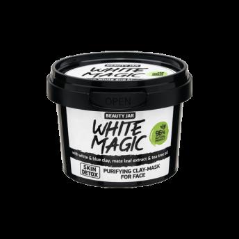 Masca faciala purifianta cu argila alba si albastra, White Magic, Beauty Jar, 120 ml