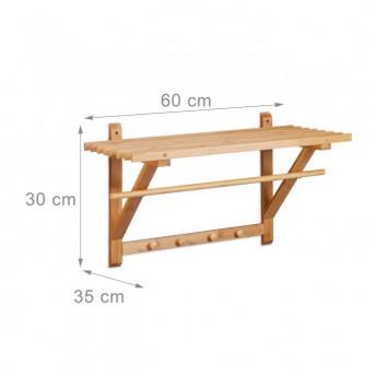 Suport Suspendat pentru Baie, din Lemn de Bambus, 60 cm