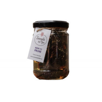 Miere de Salcam cu Prune 180 gr - Bacania Zumzete