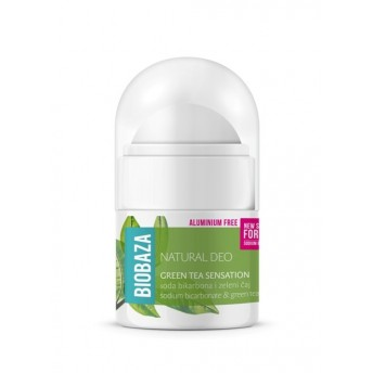 MINI Deodorant natural pentru femei GREEN TEA SENSATION, 20ml - BIOBAZA
