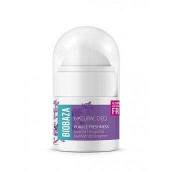 MINI Deodorant natural pentru femei PURPLE FRESHNESS, 20ml - BIOBAZA