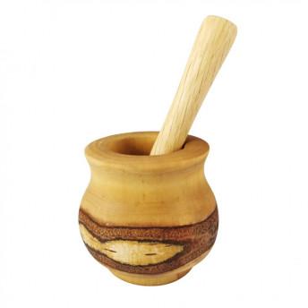 Mojar Rustic Mic, cu Pistil, din Lemn de Arin, 8-9 cm