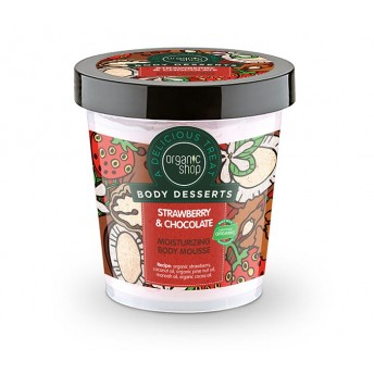 Mousse de corp delicios Strawberry & Chocolate 450 ml - Organic Shop