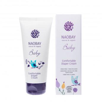 Crema organica emolienta impotriva iritatiei de scutec, Naobay, 100 ml