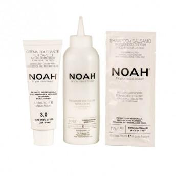 Vopsea de par naturala fara amoniac, Saten inchis, 3.0, Noah, 140 ml