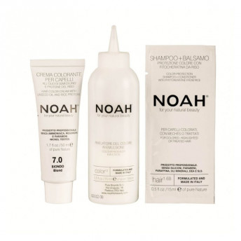 Vopsea de par naturala fara amoniac, Blond, 7.0, Noah, 140 ml