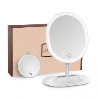 Oglinda cosmetica Anjou iluminata LED, control Touch, Marire 5X acumulator reincarcabil