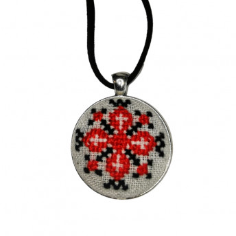 Colier Motive Traditionale - Crucea, Handmade, Savonia