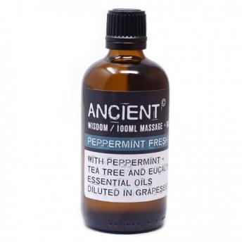 Ulei pentru masaj Peppermint Fresh, 100 ml, Ancient Wisdom