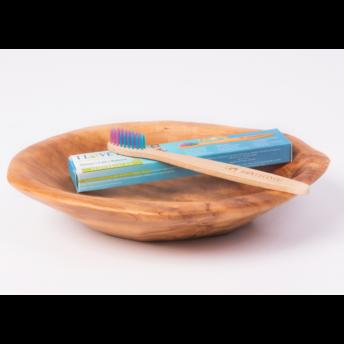 """Periuta de dinti ecologica, din bambus, pentru copii, model """"For Kids"""", în 2 culori (medium)"""