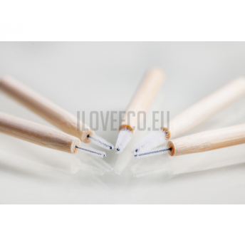 Periute interdentare din bambus - cutie cu 5 bucati, toate marimile (0,7 / 0,8 / 1,0 / 1,2 / 1,4 mm)