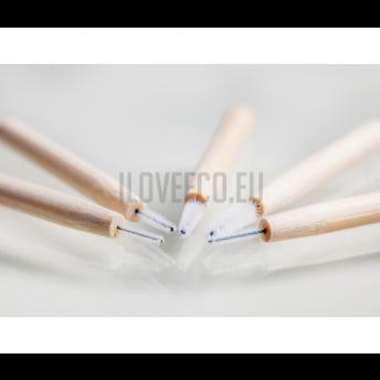 Periute interdentare din bambus - cutie cu 5 bucati, marimea 0,8 mm