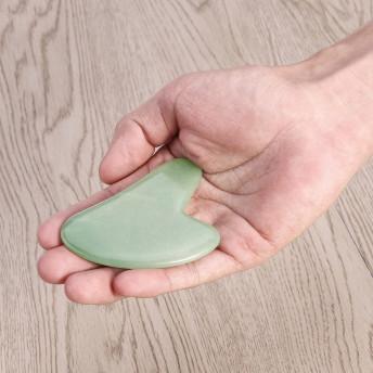 Piatra Gua Sha din Aventurin pentru masaj, 8 cm
