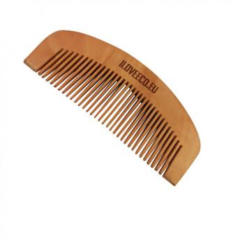 Pieptene din lemn de Mahon, pentru par sau barba, 11,5 x 5 cm