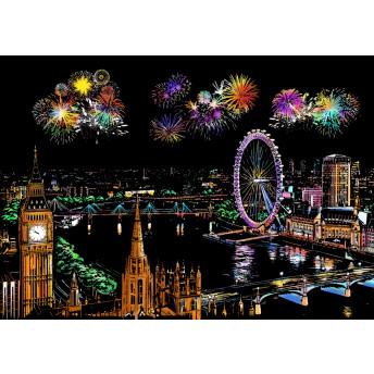 Plansa de razuit A4 (4 bucati) - terapie prin Arta - Focuri de Artificii in orase