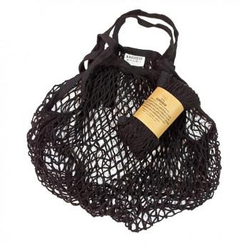Plasa Ecologica de cumparaturi cu maner scurt, negru, bumbac 100% (1 bucata)