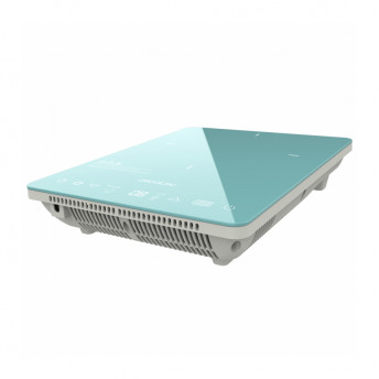 Plita cu inductie Cecotec Full Crystal Scarlet, 2000W, Touch control, cu ecran digital, 10 niveluri, Albastru