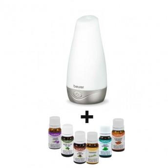 Difuzor Aromaterapie Beurer LA30 + 6 Uleiuri Esentiale Naturale Savonia