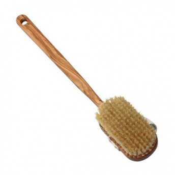 Perie corp, maner lung, detasabil, lemn Maslin, peri sisal