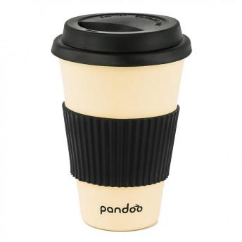 Cana de cafea cu capac, protectie termica din silicon, alb