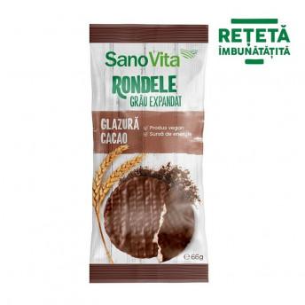Rondele din grau cu glazura de cacao, 66 g
