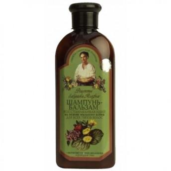 Sampon-Balsam regenerant pentru toate tipurile de par, 350 ml, Bunica Agafia