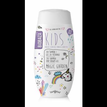 Sampon & gel de dus natural pentru copii Magic Garden, 250 ml - BIOBAZA