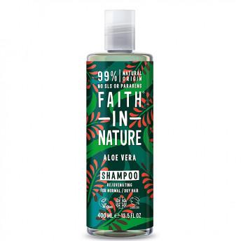 Sampon natural nutritiv cu Aloe Vera pentru toate tipurile de par, Faith in Nature, 400ml