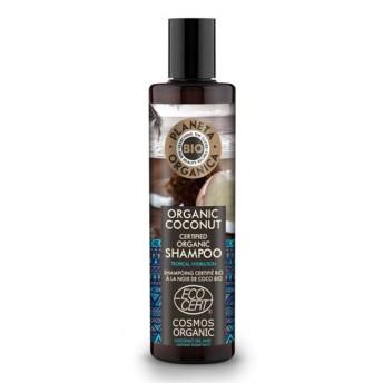 Sampon organic hidratant cu ulei de cocos si nuci indiene, 280ml - Planeta Organica