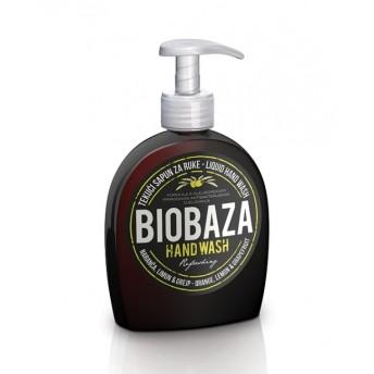 Sapun lichid natural cu portocala, lamaie si grapefruit, 300 ml - BIOBAZA
