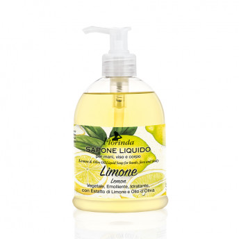 Sapun lichid vegetal hidratant cu lamaie si ulei de masline, Florinda, 500 ml, La Dispensa