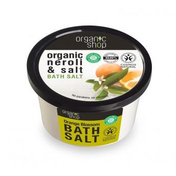 Sare de baie cu portocala Orange Blossom, 250 ml - Organic Shop
