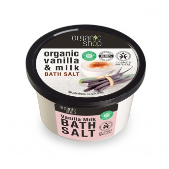 Sare de baie cu vanilie Vanilla Milk, 250 ml - Organic Shop