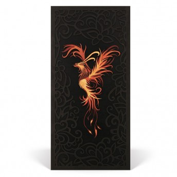 Deco Perete - The Phoenix - Red Owl Craft, 60 x 29 cm