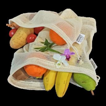 Set 2 saculeti din Bumbac pentru produse legume si fructe