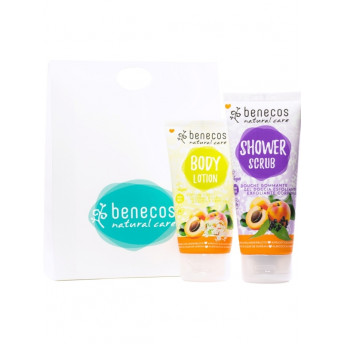 Set Cadou Peel & Cream (lotiune de corp, scrub corp) - Benecos