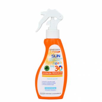 Lotiune cu protectie solara pentru copii SPF 30 Natural Sun, 200 ml, Gerocossen