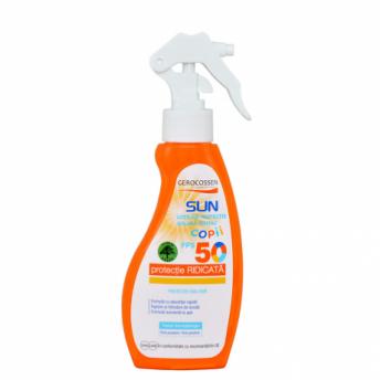 Spray protectie solara pentru copii FPS 50 Natural Sun, 200 ml, Gerocossen