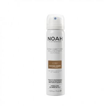 Spray corector cu vitamina B5 pentru acoperirea radacinii parului - CASTANIU DESCHIS, Noah, 75 ml