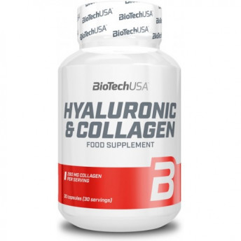 Supliment - Hyaluronic & Collagen 30 cps BiotechUSA