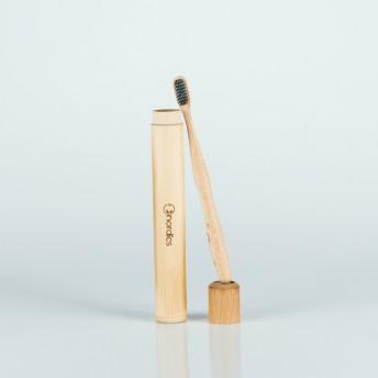 Suport periuta dinti bambus, pentru voiaj