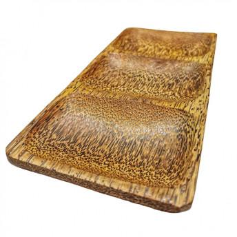 Tava din Cocos cu 3 Compartimente, 25 x 12 cm