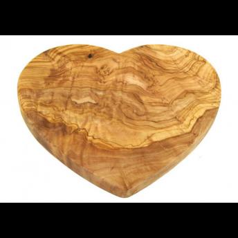 Tocator din Lemn de Maslin, forma Inima, 22 cm
