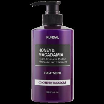 Tratament hipoalergenic pentru par, extra-hidratant cu proteine, Cherry Blossom, Kundal, 500 ml