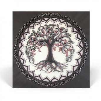 Mandala - The Tree of Life - Patrat, Aer, Red Owl Craft, 35 x 35 cm