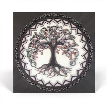 Mandala - The Tree of Life - Patrat, Aer, Red Owl Craft, 35 x 35 cm
