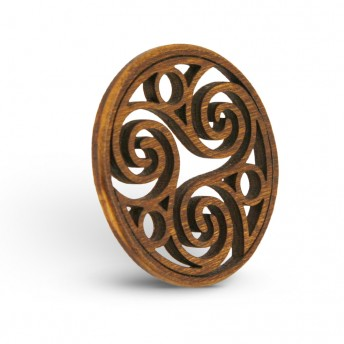 Amuleta din Lemn - The Trinity Spiral of Life, Maro